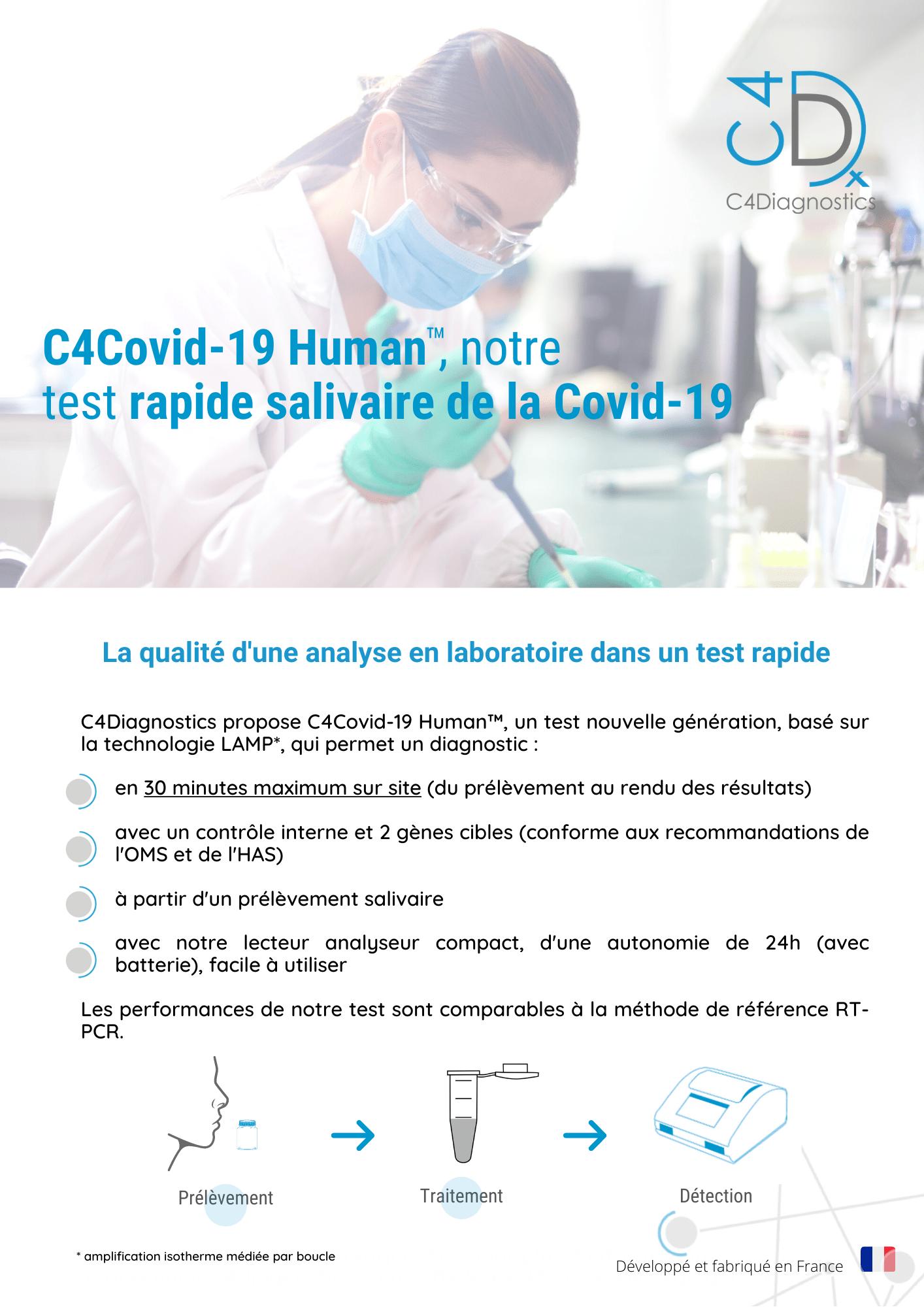 C4 COVID-19 Human, test diagnostique salivaire