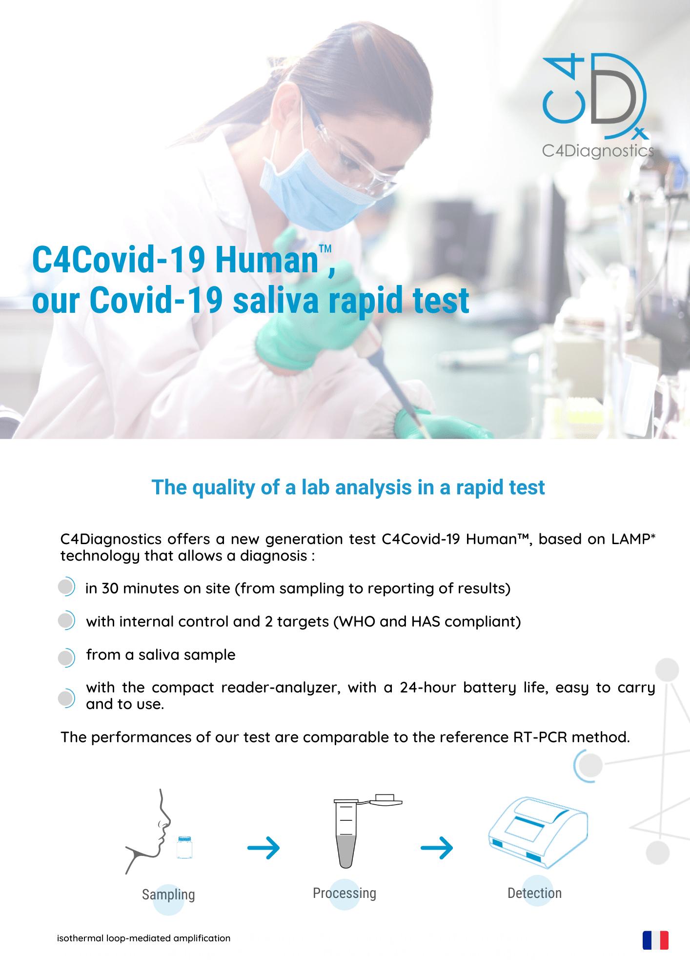 C4Covid-19 Human, our salivary test