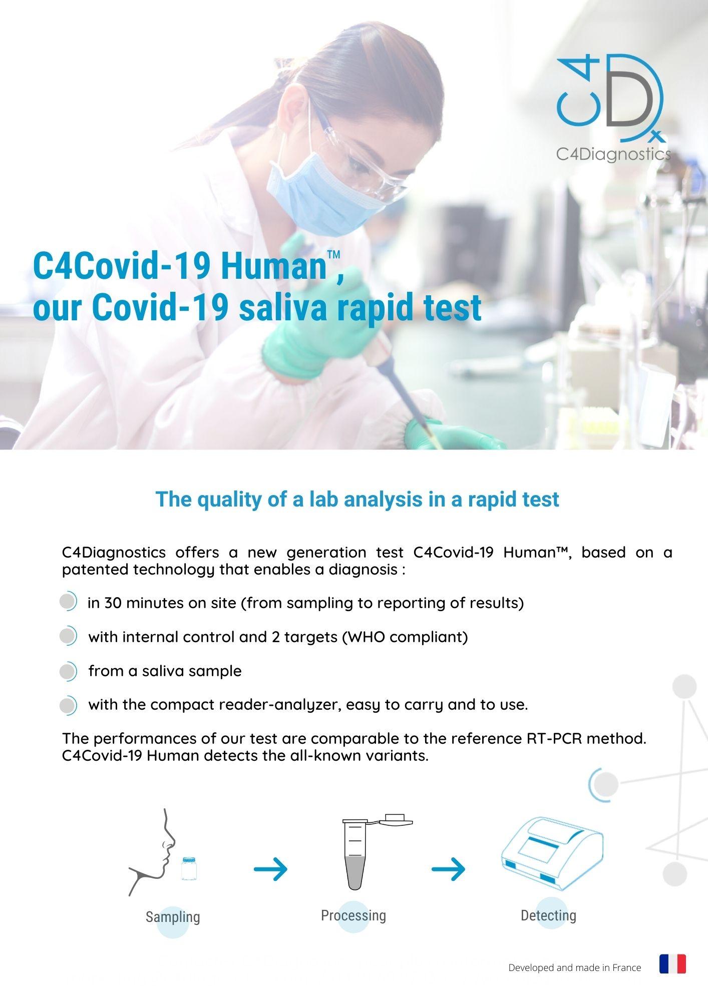 C4Covid-19 Human, our rapid salivary test