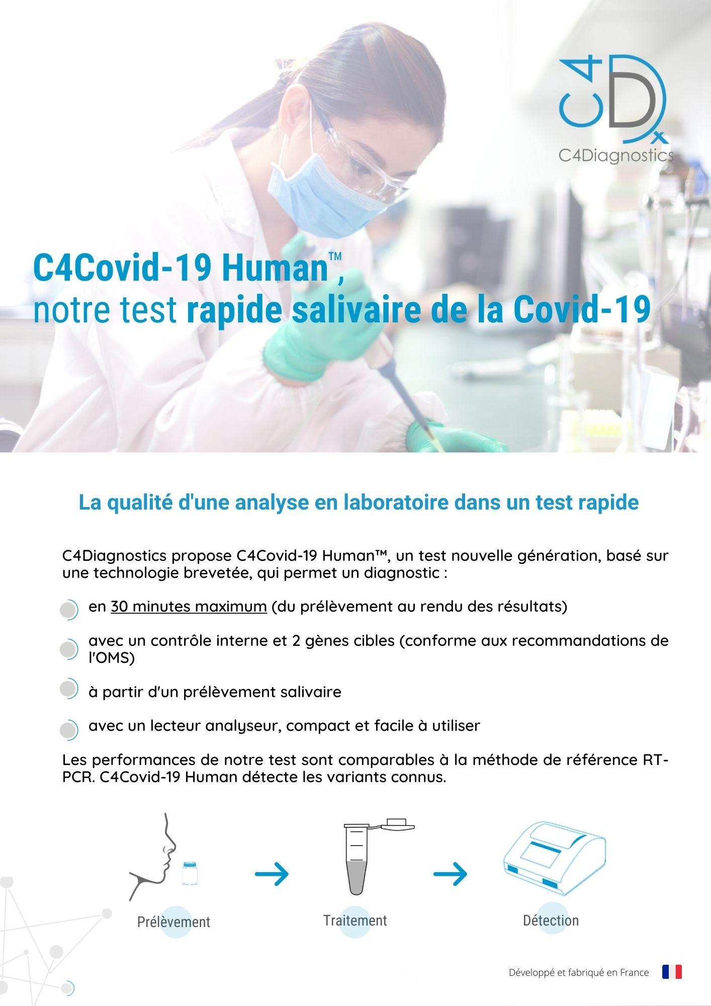 C4Covid-19 Human, notre test salivaire